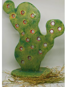 kaktus opuncja wielka CERAMIKI WYJĄTKOWY ozdoba handmade rękodzieło prezent urodziny