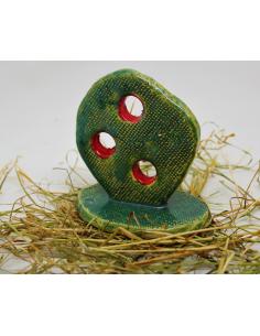 kaktus opuncja CERAMIKI WYJĄTKOWY ozdoba handmade rękodzieło prezent urodziny
