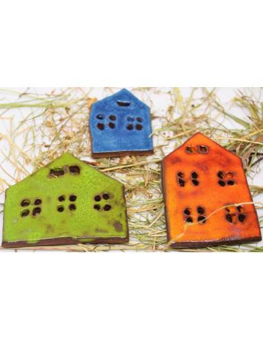 domki magnesy na lodówke CERAMIKI WYJĄTKOWY ozdoba handmade rękodzieło prezent urodziny