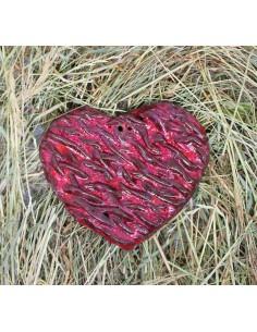 serce zawieszka CERAMIKI WYJĄTKOWY ozdoba handmade rękodzieło prezent urodziny