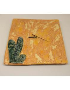 zegar kaktus CERAMIKI WYJĄTKOWY ozdoba handmade rękodzieło prezent urodziny