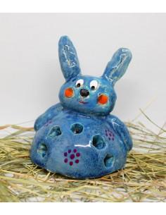 świecznik królik CERAMIKI WYJĄTKOWY ozdoba handmade rękodzieło prezent urodziny