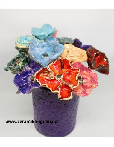 Kwiaty  ceramiczne komplet 6szt do...