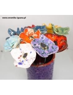 Kwiaty  ceramiczne komplet...