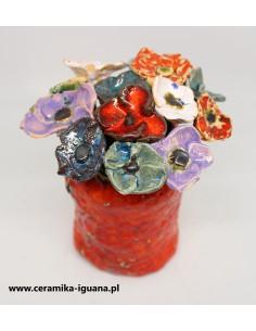 NA SZTUKI ceramiczne kwiaty...