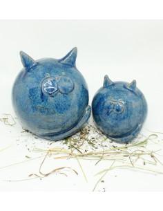 niebieski kot unikat ceramiki  ozdoba handmade rękodzieło prezent