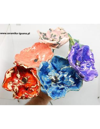 NA SZTUKI Wielkie ceramiczne kwiaty...
