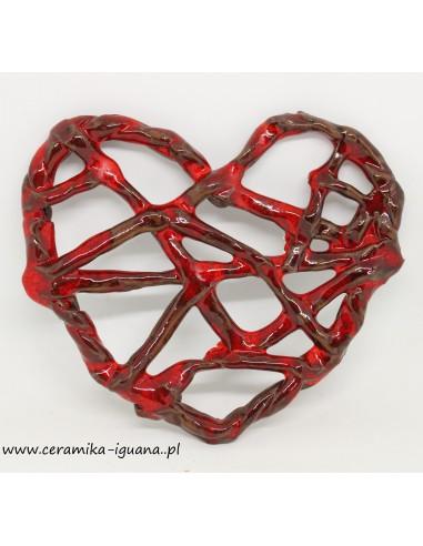 Serce ceramiczne-zawieszka  handmade...